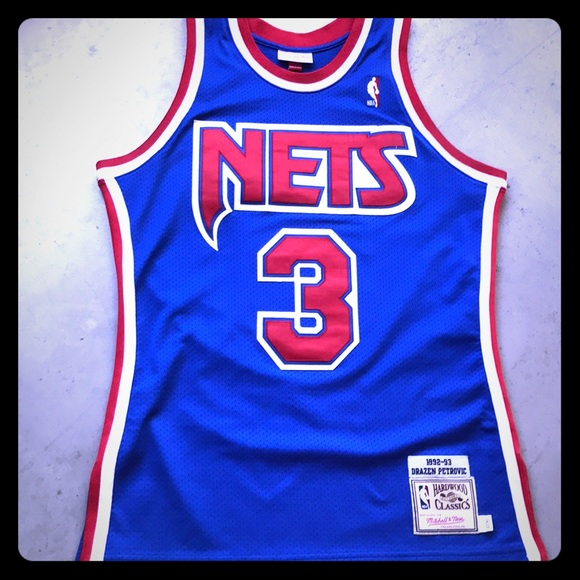 best service 8f2eb 5c3b6 Drazen Petrovic 92-93 Authentic Nets Jersey